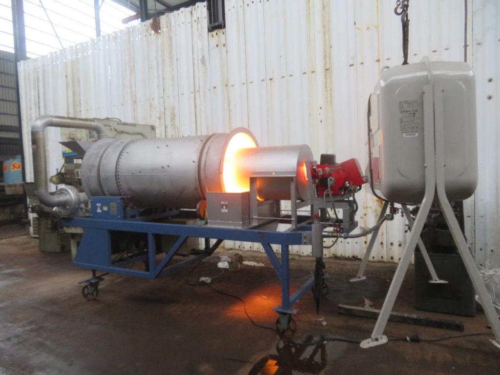 焼土機 ロータリーキルン 焼土殺菌乾燥機