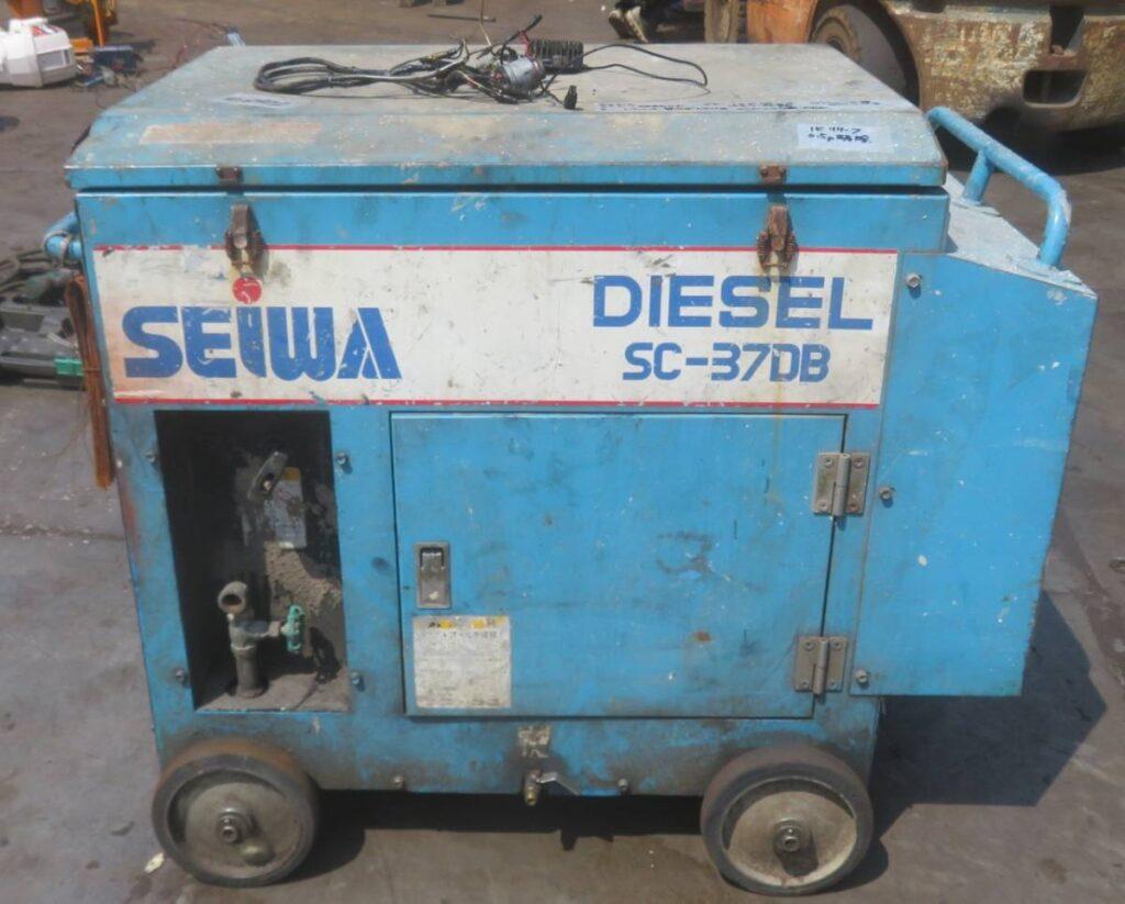 油谷№5903② SEIWA エンジン式 エア―コンプレッサー