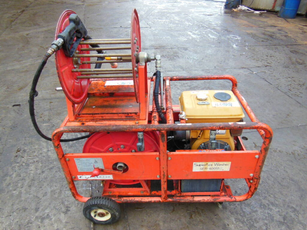 油谷№4059 エンジン式 高圧洗浄機