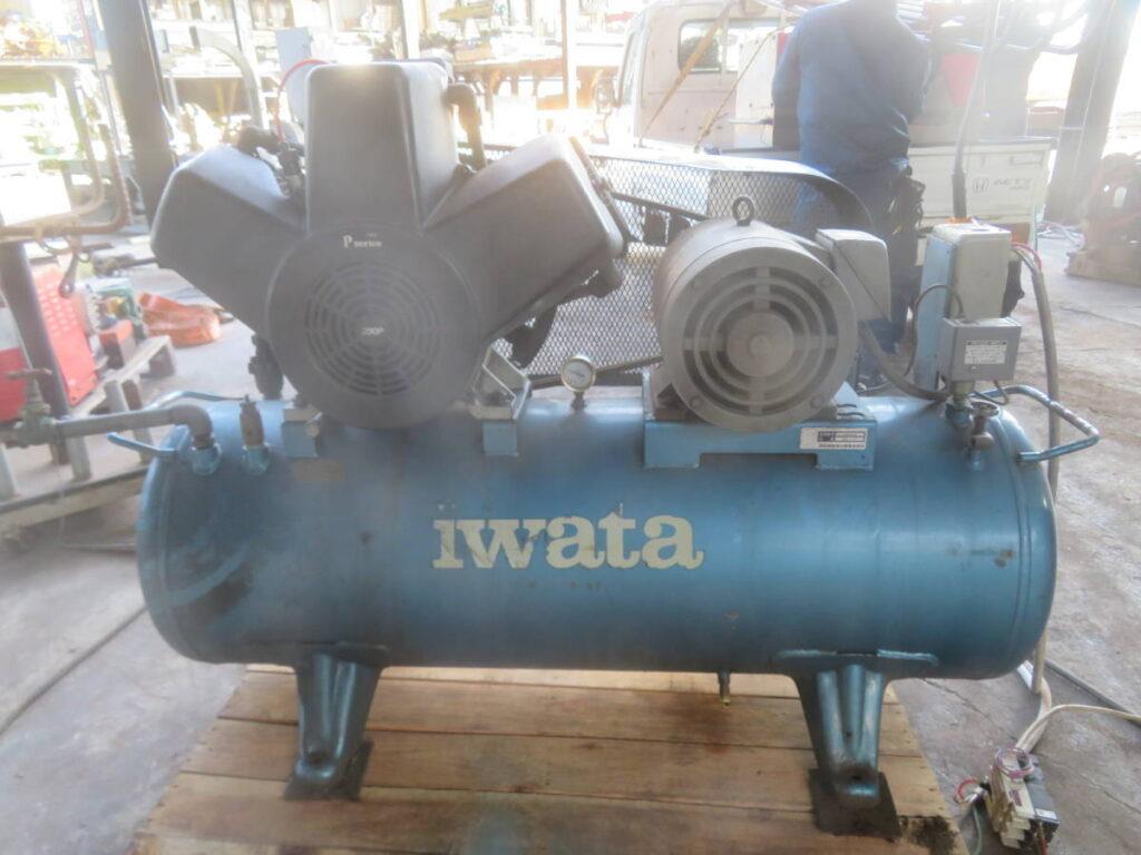 油谷№5152 イワタ SP-75P 7.5Kw 10馬力 エアーコンプレッサー