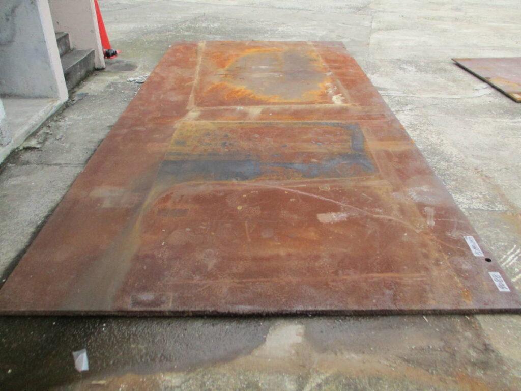 油谷№9088 敷鉄板 厚板 長さ5195㎜×幅2455㎜ 厚み35㎜