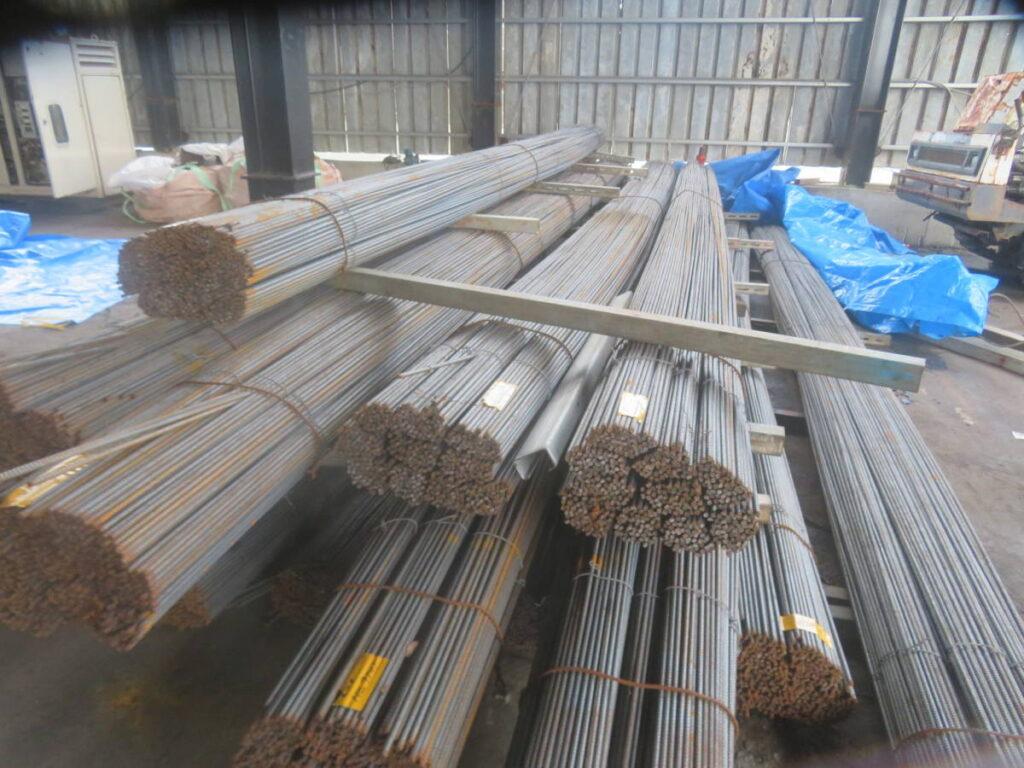油谷№9100 鉄筋 10㎜ 長さ7030㎜ 総重量33トン 3分筋