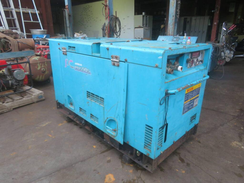 油谷№9115 北越 PDS90s エアーマン エンジンコンプレッサー