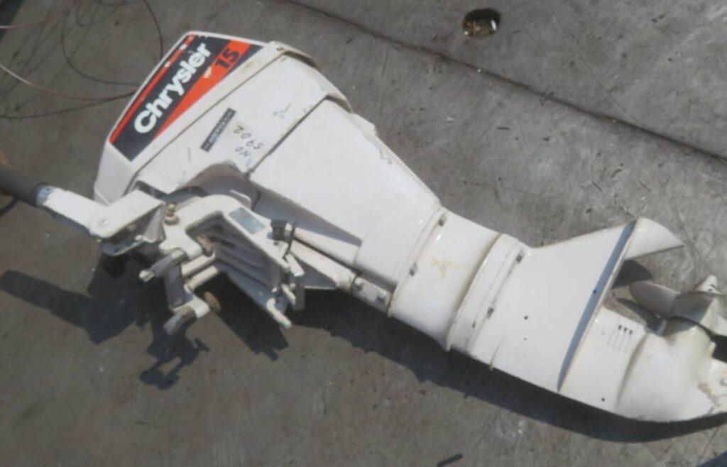 油谷№5902② 船外機 CHRYSLER 15馬力 152H1G